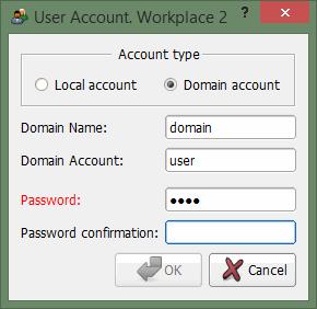 Exemplo de configuração de logon automático com um tipo de conta de domínio
